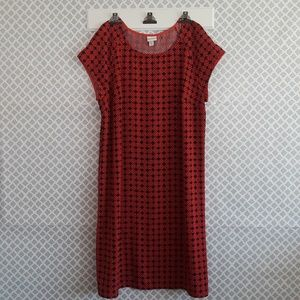 Merona sz:XL Shiff Dress Red/Orange Navy Blue